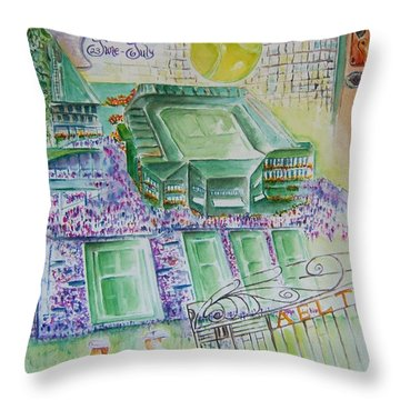 Wimbledon 2014 Throw Pillow by Elaine Duras