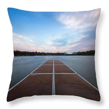 Wimbledon Park Sunset Throw Pillow by Matt Malloy