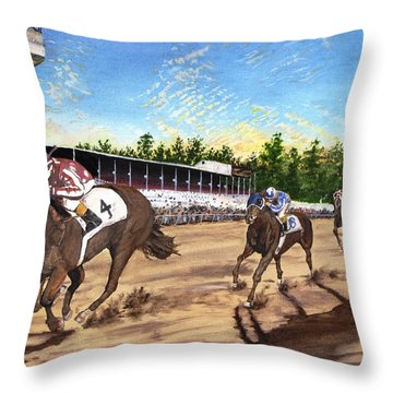 Win Place Show Throw Pillow by Kevin F Heuman