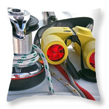 Winch And Binoculars Throw Pillow