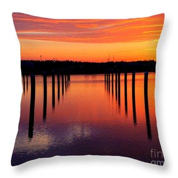Winchester Bay Sunset Throw Pillow