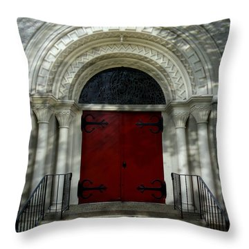 Throw Pillow featuring the photograph Winchester Church by Joseph Skompski