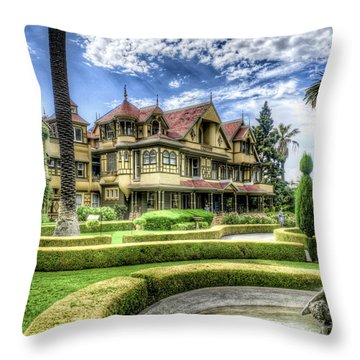 Winchester Mystery House Throw Pillow