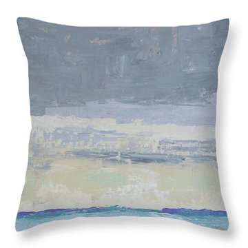 Wind And Rain On The Bay Throw Pillow by Gail Kent