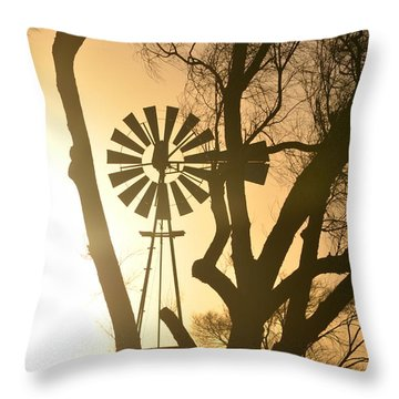 Throw Pillow featuring the photograph Spinning In The Sundown by Clarice  Lakota