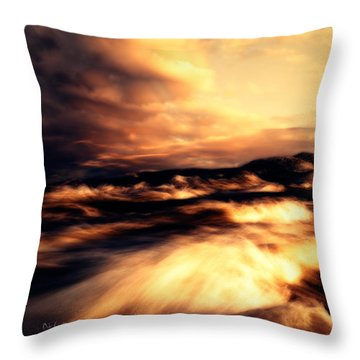 Wind And Water Throw Pillow by Bob Orsillo