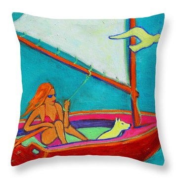 Wind Beneath My Wings I Throw Pillow by Xueling Zou
