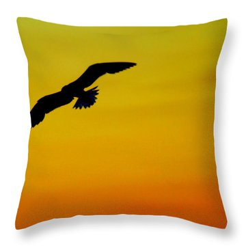 Wind Beneath My Wings Throw Pillow by Frozen in Time Fine Art Photography