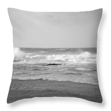 Wind Blown Waves Tofino Throw Pillow