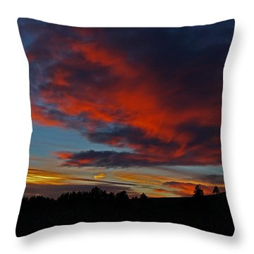 Black Hills Sunset Throw Pillow