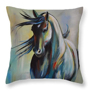 Wind Dancer Throw Pillow by Cher Devereaux