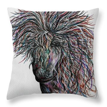 Wind Throw Pillow by Eloise Schneider