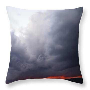 Wind Event At Sundown Throw Pillow