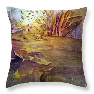 Wind In Fall Throw Pillow