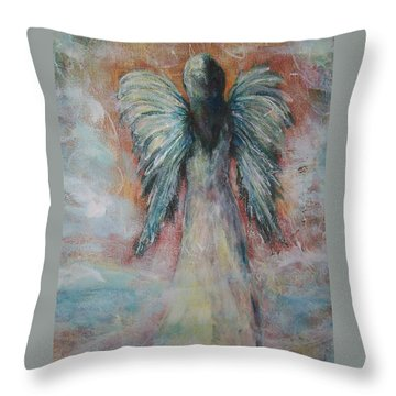 Wind In My Wings, Angel Throw Pillow