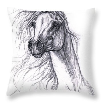 Wind In The Mane 2 Throw Pillow