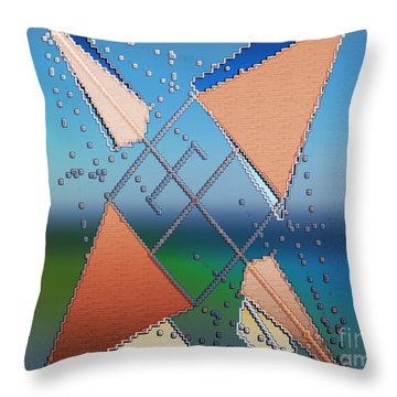 Wind Milling Throw Pillow