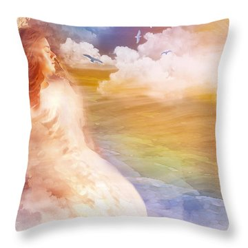 Wind Of His Glory Throw Pillow by Jennifer Page