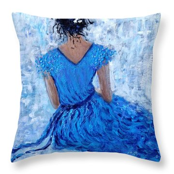 Throw Pillow featuring the painting Wind Of Hope.. by Cristina Mihailescu