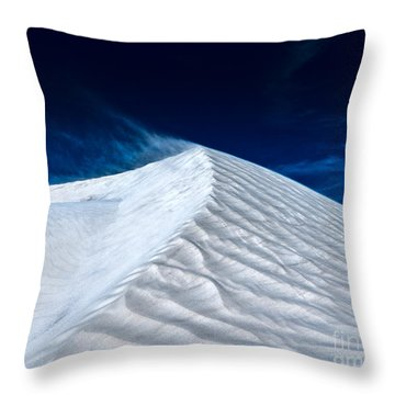 Wind Over White Sands Throw Pillow