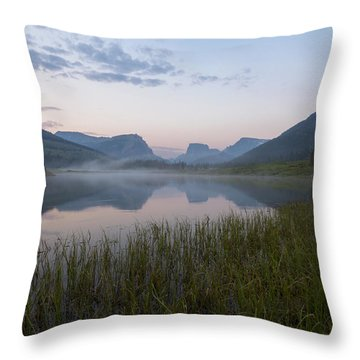 Throw Pillow featuring the photograph Wind River Morning by Dustin  LeFevre