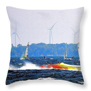 Wind Sails Power Throw Pillow