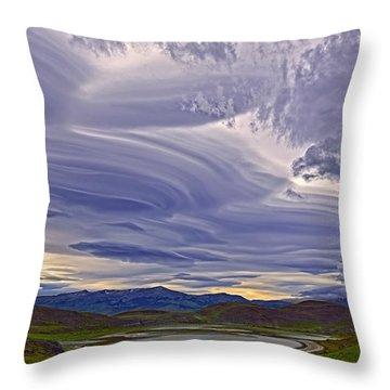 Wind Sculpture Throw Pillow