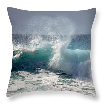 Wind Spray Throw Pillow