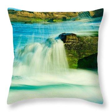 Windansea Beach 2 Throw Pillow
