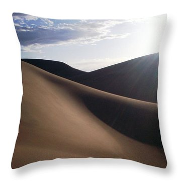 Throw Pillow featuring the photograph Windblown Curves by Carlee Ojeda
