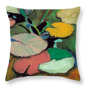 Windchime Spring Throw Pillow by Allan P Friedlander