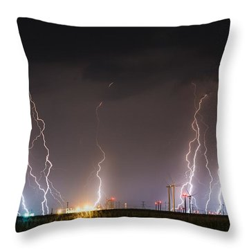 Windfarm Bolts Throw Pillow