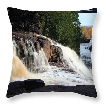 Winding Falls Throw Pillow by James Peterson