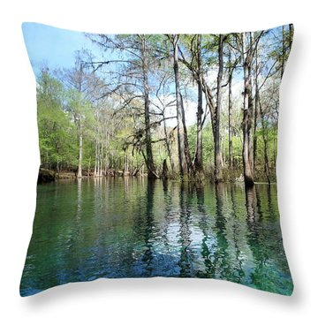 Winding Waters Of The Itchetucknee Throw Pillow