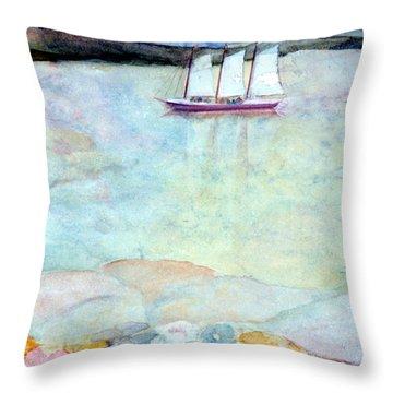 Windjammer Throw Pillow by Pamela Parsons