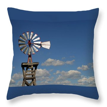 Windmill-5764b Throw Pillow by Gary Gingrich Galleries