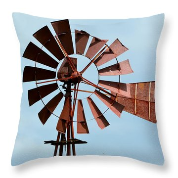 Throw Pillow featuring the photograph Windmill by Cathy Shiflett