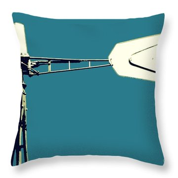 Windmill 2 Throw Pillow by Valerie Reeves