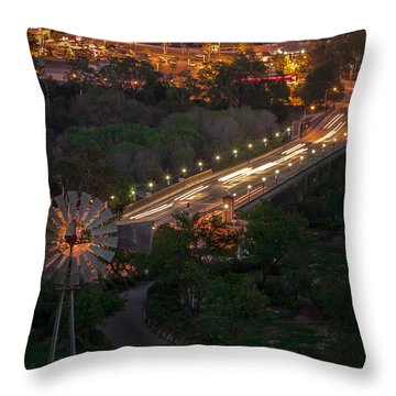 Windmill Over Niblick Bridge Throw Pillow