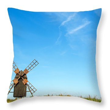 Windmill Portrait Throw Pillow