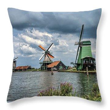Windmill Trio Throw Pillow
