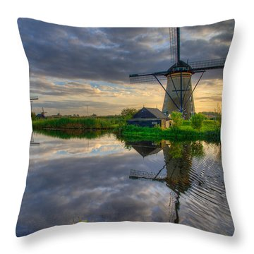 Windmills Throw Pillow by Chad Dutson