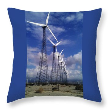 Throw Pillow featuring the photograph Windmills by Chris Tarpening