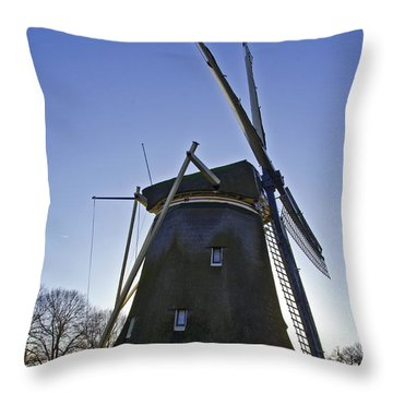 Windmills Of Holland Throw Pillow by Pravine Chester