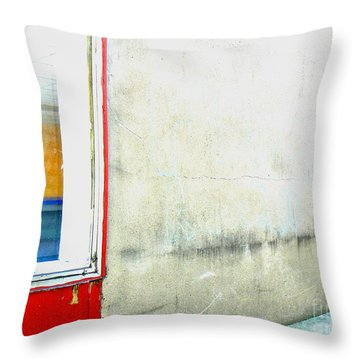 Throw Pillow featuring the photograph Window And Wall by Lin Haring