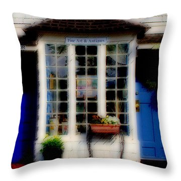 Throw Pillow featuring the photograph Window Art by Caroline Stella