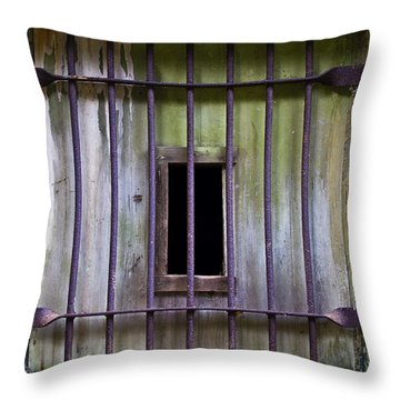 Window At The Fort Throw Pillow by Marie Jamieson