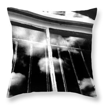 Window Clouds Throw Pillow
