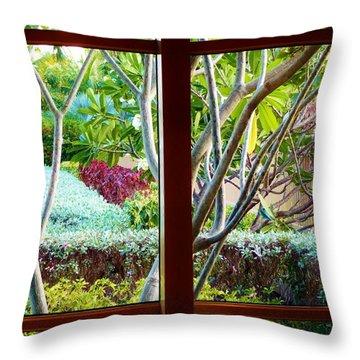 Throw Pillow featuring the photograph Window Garden by Amar Sheow