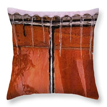 Throw Pillow featuring the photograph Window Glow by Tom Singleton